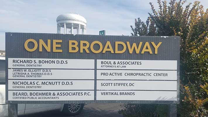 Chiropractic Columbia MO Building Directory Sign