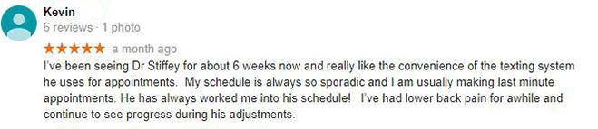 Chiropractic Columbia MO Testimonial Kevin